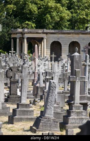 Brompton Cemetery, London, England, UK - Stock Photo