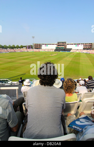 Crowd at Hampshire Royals and Kent Spitfires Twenty20 match, Ageas Bowl, Southampton, UK - Stock Photo