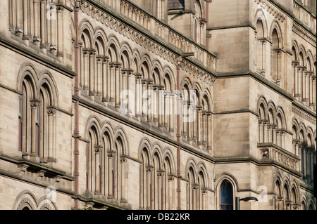 An abstract view of Manchester Town Hall in the city centre. - Stock Photo