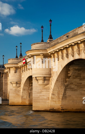 Pont Neuf over River Seine, Paris France - Stock Photo