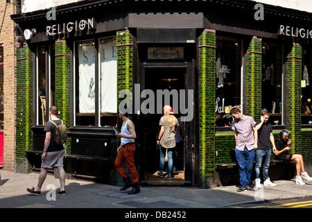 Shops, Brick Lane, Tower Hamlets, London, England - Stock Photo