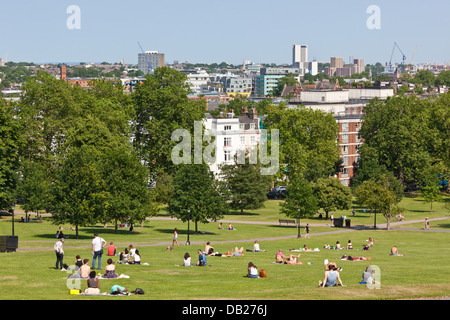 Primrose Hill In The Summer London UK - Stock Photo