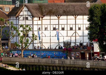 Shakespeare's Globe Theatre, Bankside, Southwark, London, England - Stock Photo