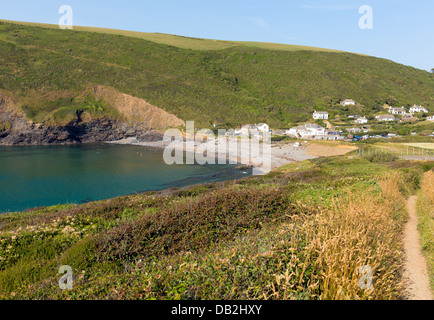 Crackington Haven beach North Cornwall between Bude and Tintagel  England UK South West Coast Path on a beautiful - Stock Photo