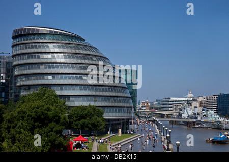 The London Assembly Building (City Hall) London, England - Stock Photo