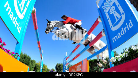German show jumper Marco Kutscher rides at the European Championship in Madrid, Spain, 15 September 2011. Photo: - Stock Photo