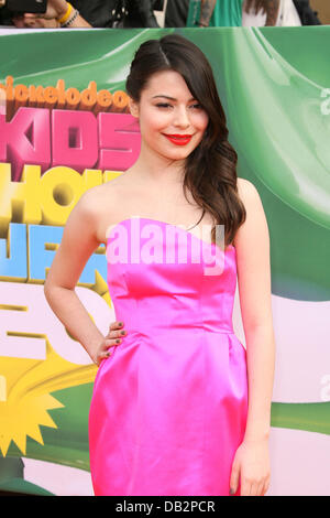 Miranda Cosgrove Nickelodeon's 2011 Kids Choice Awards held at USC's Galen Center Los Angeles, California - 02.04.11 - Stock Photo