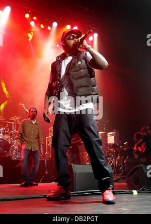 Nas performing at Manchester O2 Apollo Theatre Manchetser, England - 02.04.11 - Stock Photo