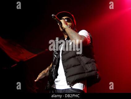 Nas performing at Manchester O2 Apollo Theatre Manchetser, England - 02.04.11 - Stock Photo