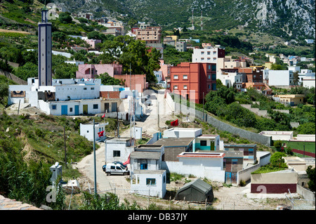 Benzu village in the border between Spain Ceuta and Morocco. Ceuta,North Africa. Spain. - Stock Photo