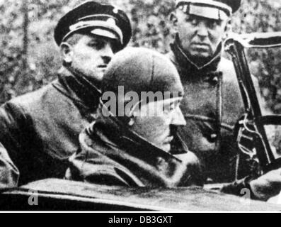 Hitler, Adolf, 20.4.1889 - 30.4.1945, German politician (NSDAP), Chancellor of the Reich 30.1.1933 - 30.4.1945, - Stock Photo