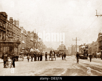 Stockton-on-Tees High Street early 1900s - Stock Photo
