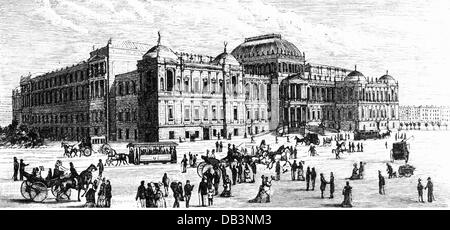 geography / travel, Austria, Vienna, university, main building at Ringstrasse, built 1877 - 1884, architect: Heinrich - Stock Photo