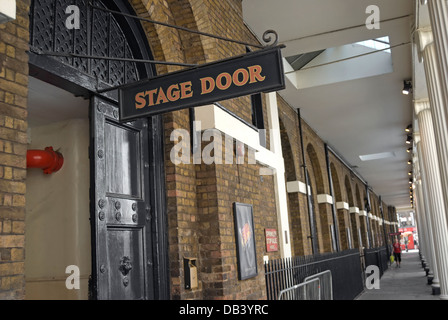 stage door of the theatre royal, drury lane, london, england - Stock Photo