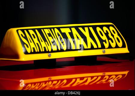 Taxi. Sarajevo.Bosnia- Herzegovina. Balkans .Europe. - Stock Photo
