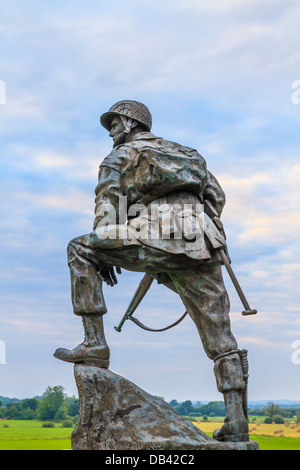 Iron Mike Statue commemorating US airborne soldiers during Normandy Invasion, France - Stock Photo