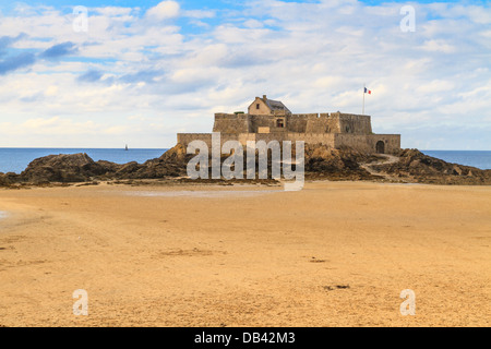 Saint Malo View on Fort National, Brittany, France - Stock Photo
