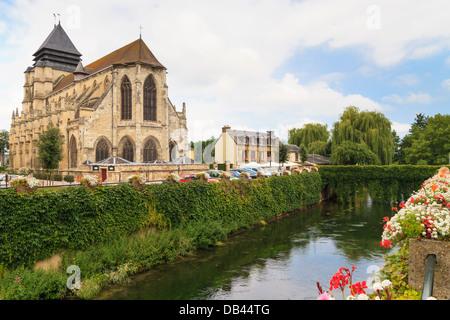 Famous cheese village of Pont-l'Évêque, Normandy, France - Stock Photo