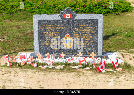 Normandy Landings, Canadian Army Memorial at Juno Beach, France - Stock Photo
