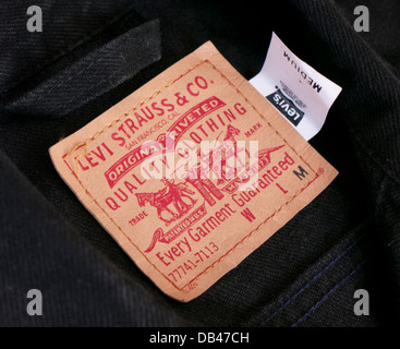 Levi Strauss & Co clothing label - Stock Photo
