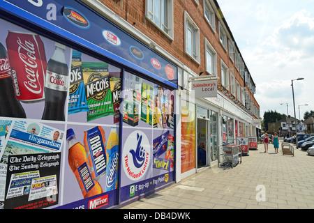 Martins newsagent, North Parade, Chessington, Royal Borough of Kingston upon Thames, Greater London, England, United - Stock Photo
