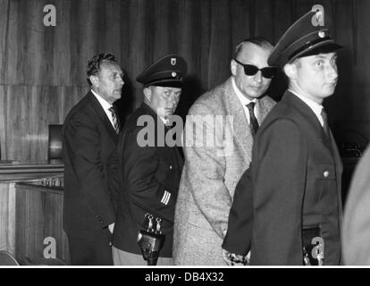 justice, lawsuits, Einsatzgruppen Trial, defendants Wilhelm Schulz, Dr. Otto Bradfisch, policeman, district court - Stock Photo