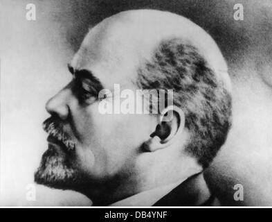 Lenin (Vladimir Ilyich Ulyanov), 22.4.1870 - 21.1.1924, Russian politician, portrait, circa 1920, - Stock Photo