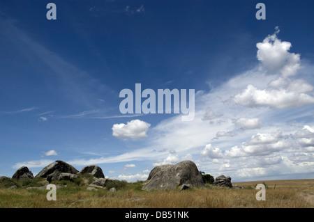 Africa, Tanzania, Lake Manyara National Park rocks in the landscape - Stock Photo