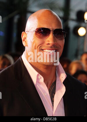 Dwayne Johnson aka The Rock attends the French premiere of 'Fast and Furious 5: Rio Heist' Marseille, France - 28.04.11 - Stock Photo
