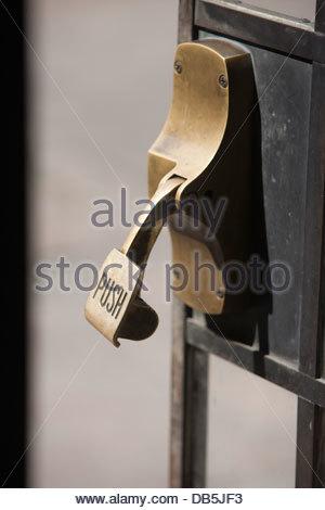 Close-up of handle of a door - Stock Photo