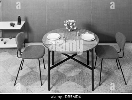 Furniture, Dining Room, 1960, 1960s, 60s, 20th Century, Historic,