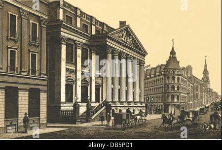 geography / travel, Great Britain, London, Mansion House, official residence of the Lord Mayor of the city of London, - Stock Photo