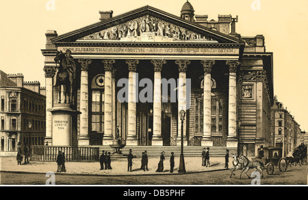 geography / travel, Great Britain, London, Royal Exchange, lithography from about 1890, Additional-Rights-Clearences - Stock Photo