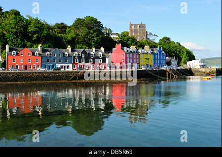 Picturesque town of Tobermory on Island of Mull, Scotland - Stock Photo