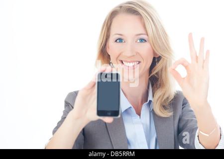 Busienss Frau mit Handy - Stock Photo