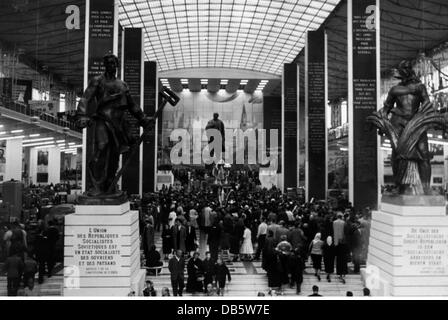 exhibitions, world exposition, Brussels, Expo '58, exhibition hall of the Soviet Union, 1958, 58, 1950s, 50s, 20th - Stock Photo