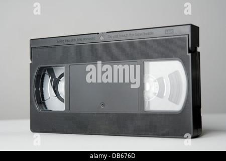 Black VHS cassette tapes. - Stock Photo