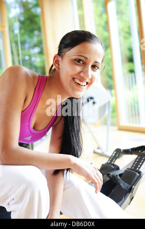 young, pretty, sportive woman (model-released) - Stock Photo