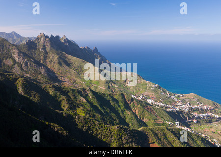 Taganana Village in the Anaga Mountains, Tenerife, Canary Islands, Spain - Stock Photo
