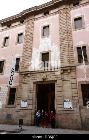 barcelona centre for culture cccb catalonia spain stock photo