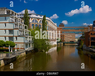 loft apartments in former spinning mill at white elster river stock photo royalty free image. Black Bedroom Furniture Sets. Home Design Ideas