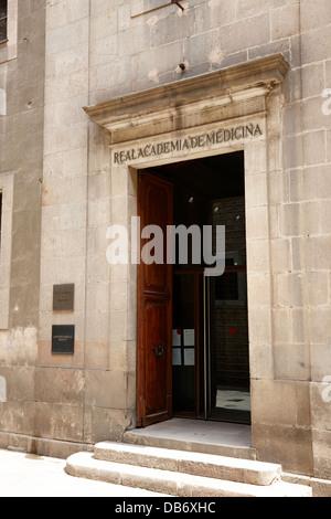 real academia de medicina Barcelona Catalonia Spain - Stock Photo