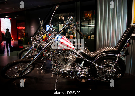 Easy Rider Chopper at the Harley Davidson Museum, Milwaukee Wisconsin - Stock Photo