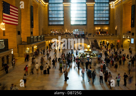 People / travelers in Grand Central Station, New York City - Stock Photo