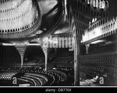 theatre / theater, interior, auditorium, Grosses Schauspielhaus (Great Theatre), Berlin, conversion by Hans Poelzig, - Stock Photo