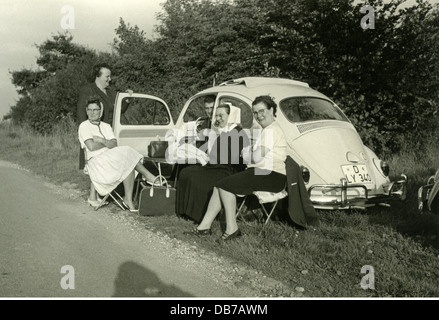 transport / transportation, car, vehicle variants, Volkswagen, VW 1200 (VW beetle), with folding roof from 1962, - Stock Photo
