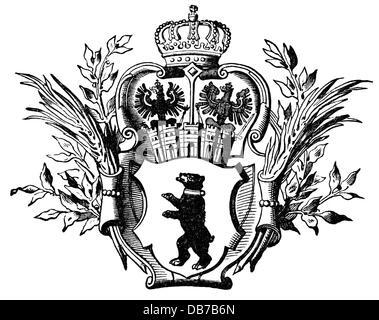 Berlin Coat Of Arms Stock Photo 55248629 Alamy
