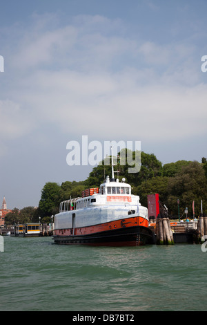 A J.Vasconcelos' work: the Lisbon ferryboat coated with ceramic tile-work, which can be seen in Venice (55th biennial - Stock Photo