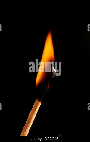 burning match - Stock Photo