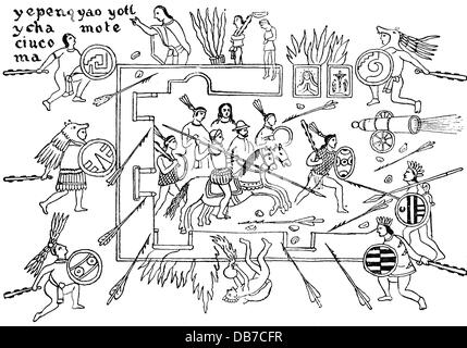 the spaniard encounter of the aztec civilization The european invasion of the aztec civilization thunder on their ships they are landing with rulers, squares, compasses sextants white skin fair eyes, naked word.